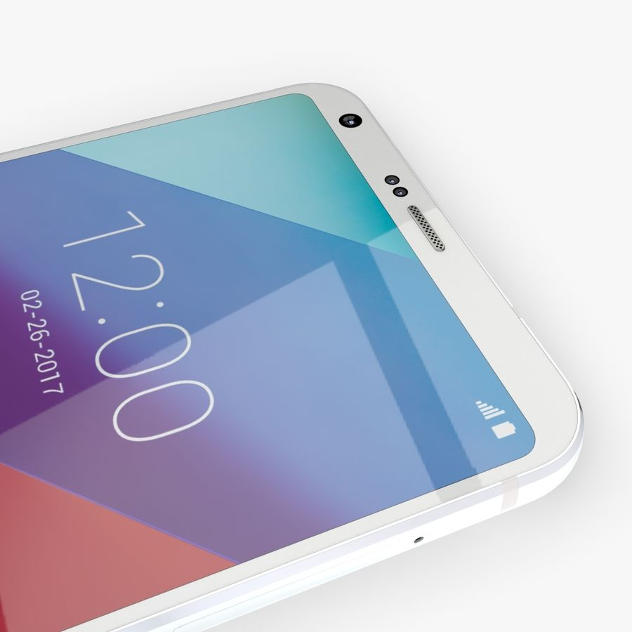LG G6 royalty-free 3d model - Preview no. 13