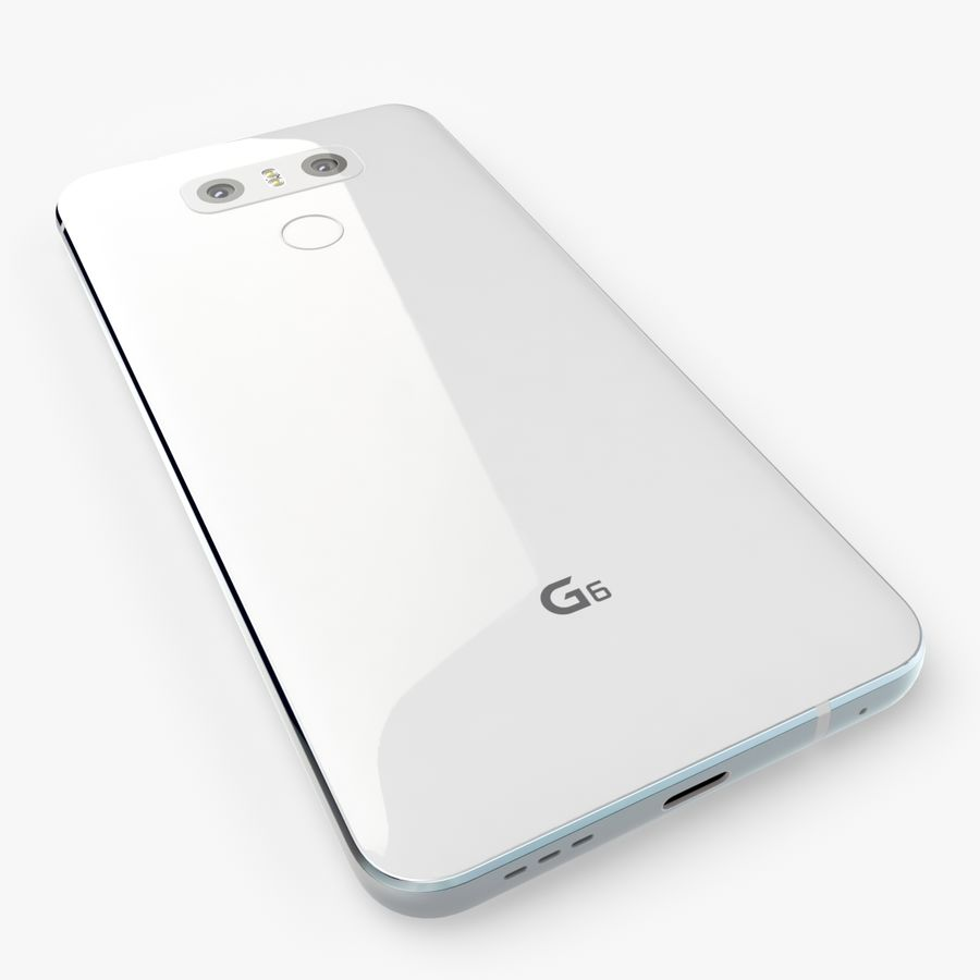 LG G6 royalty-free 3d model - Preview no. 4