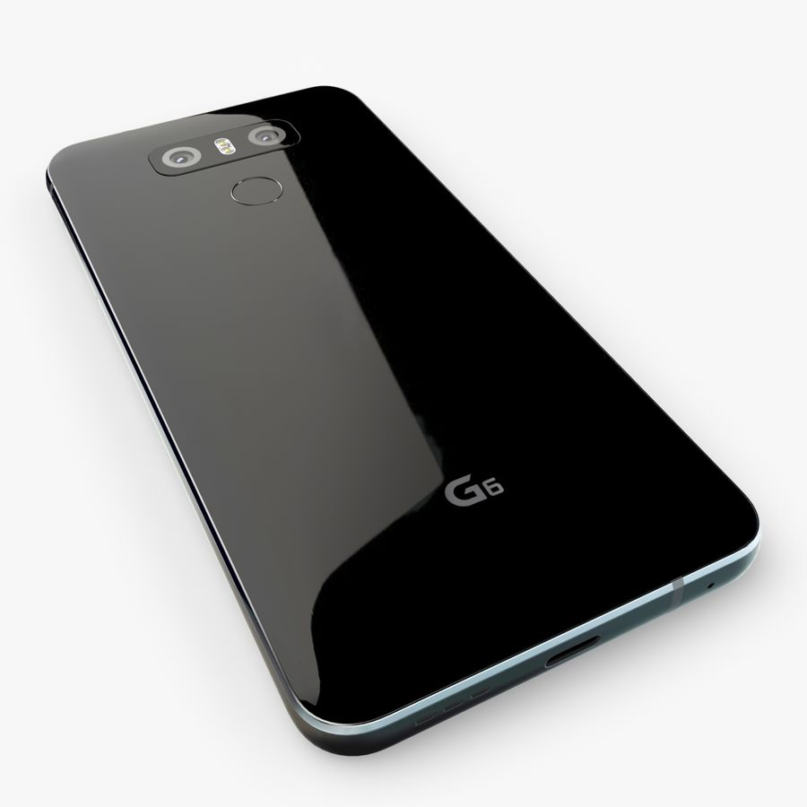 LG G6 royalty-free 3d model - Preview no. 2