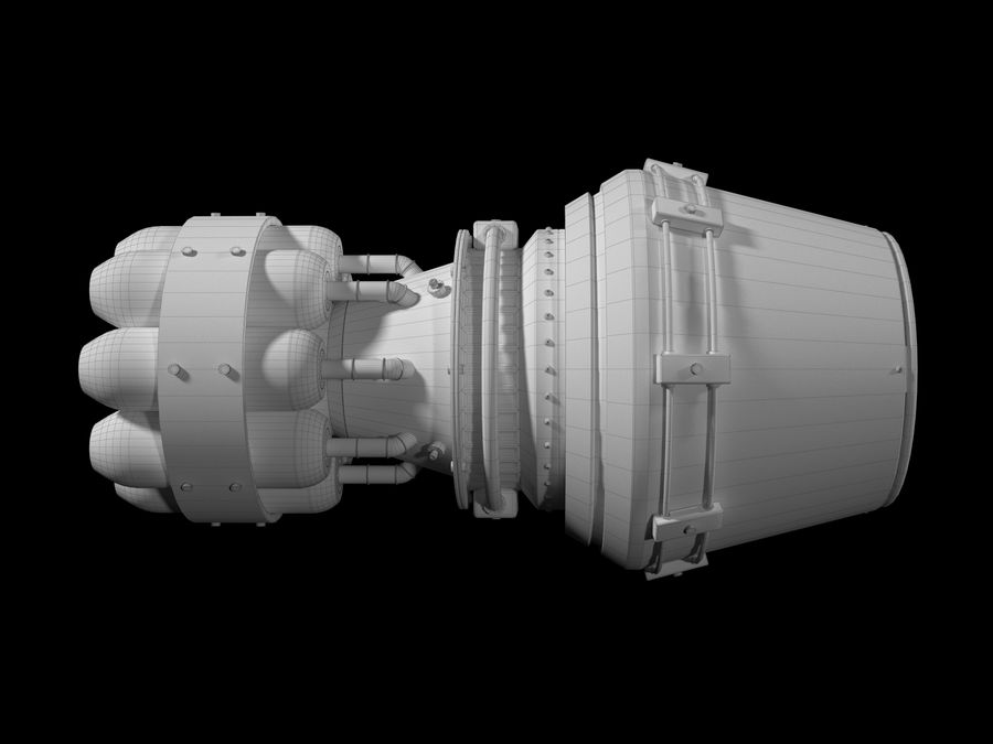 motor a jato royalty-free 3d model - Preview no. 5