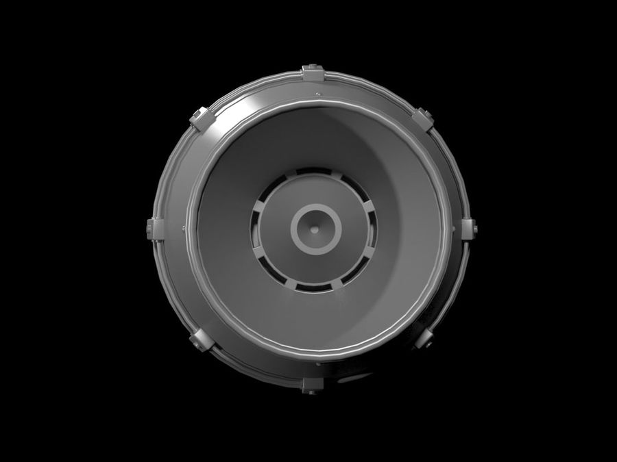 jet engine royalty-free 3d model - Preview no. 3