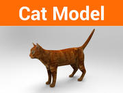 고양이 게임 준비 낮은 폴리 모델 3d model