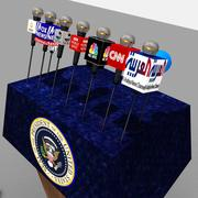 USA: s presidentpodium 3d model