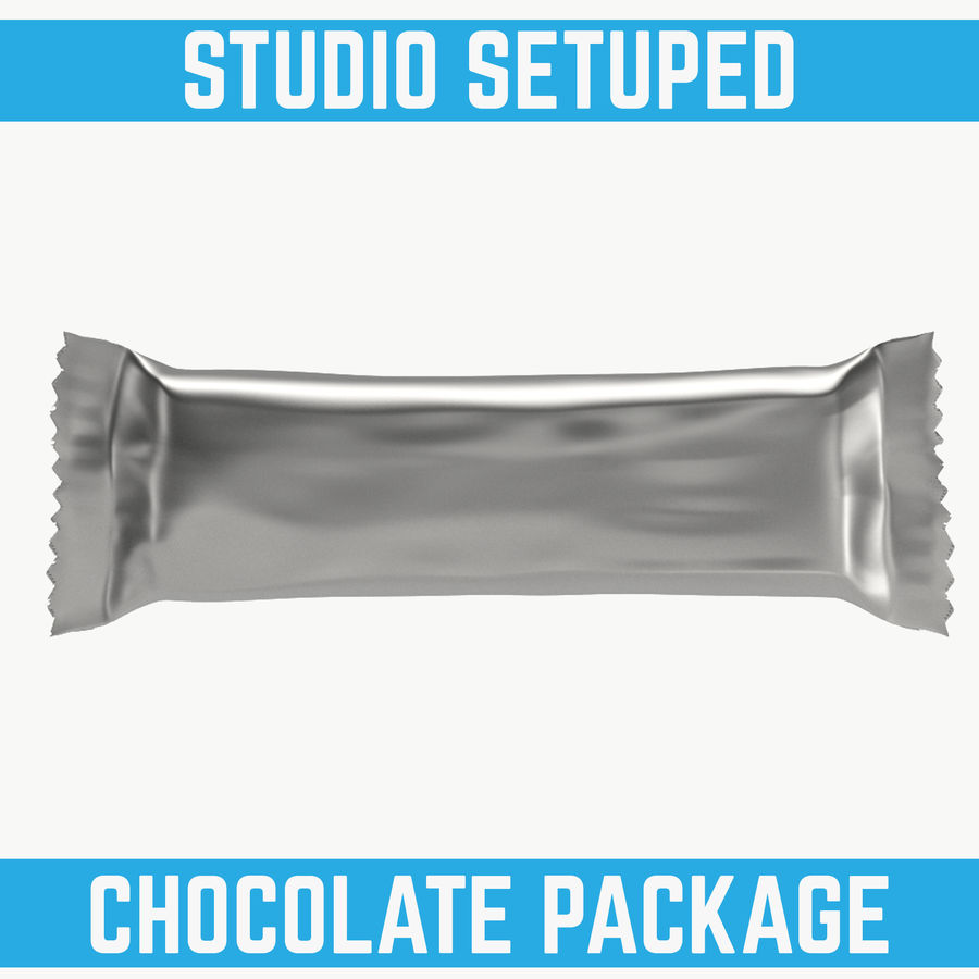 Choklad mellanmål paket royalty-free 3d model - Preview no. 1