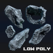 Asteroid Low Poly Game Ready 3d model