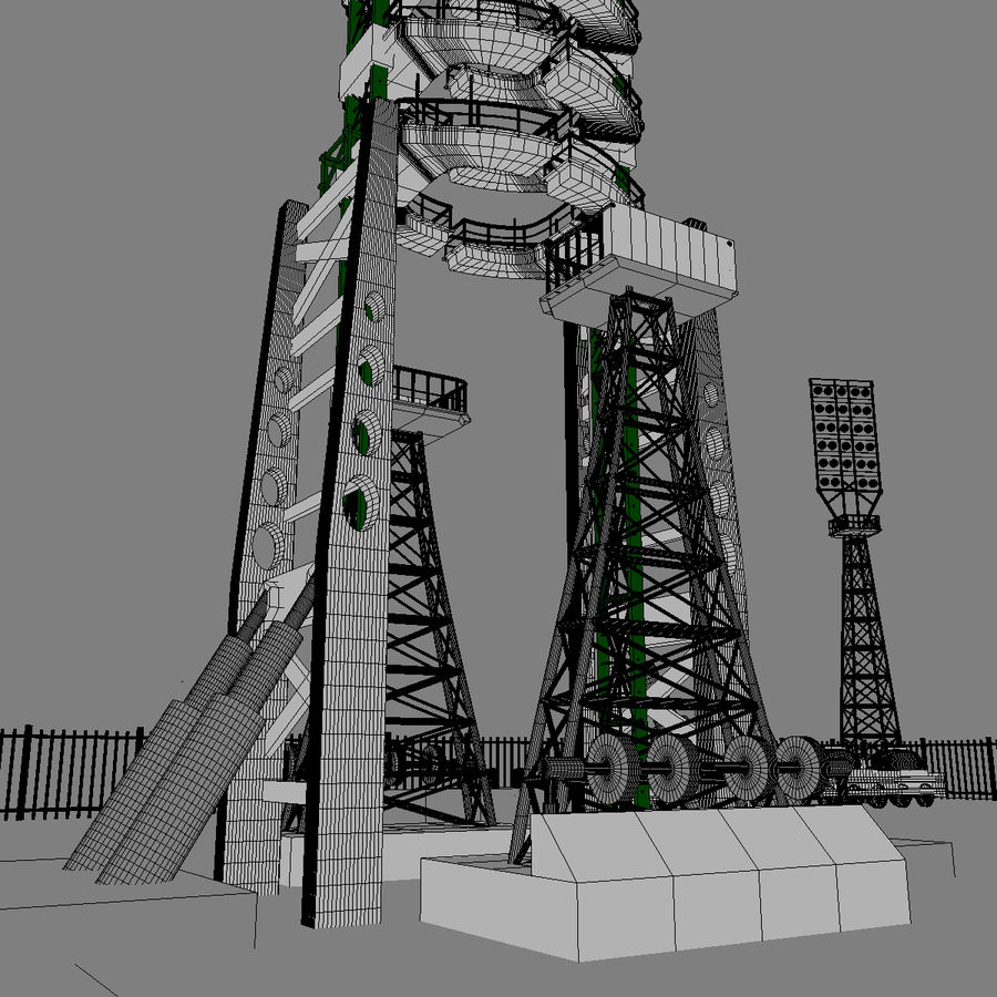 Rocket Launch Site royalty-free 3d model - Preview no. 12