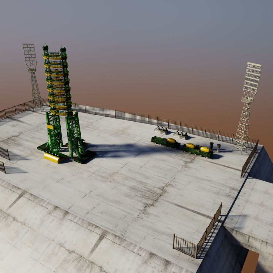 Rocket Launch Site royalty-free 3d model - Preview no. 10