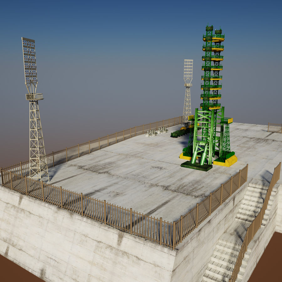 Rocket Launch Site royalty-free 3d model - Preview no. 5