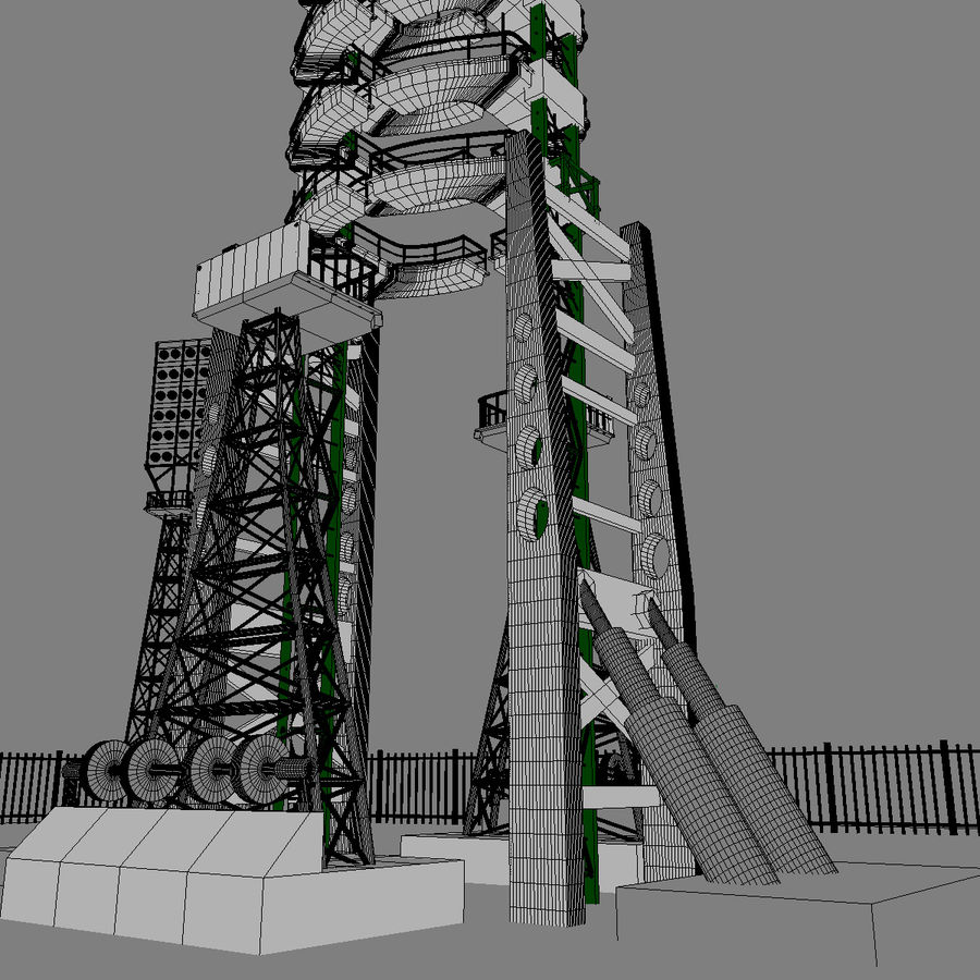 Rocket Launch Site royalty-free 3d model - Preview no. 13