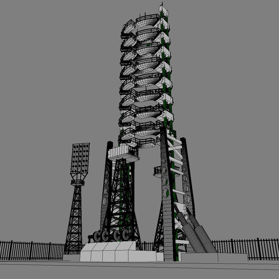 Rocket Launch Site royalty-free 3d model - Preview no. 18