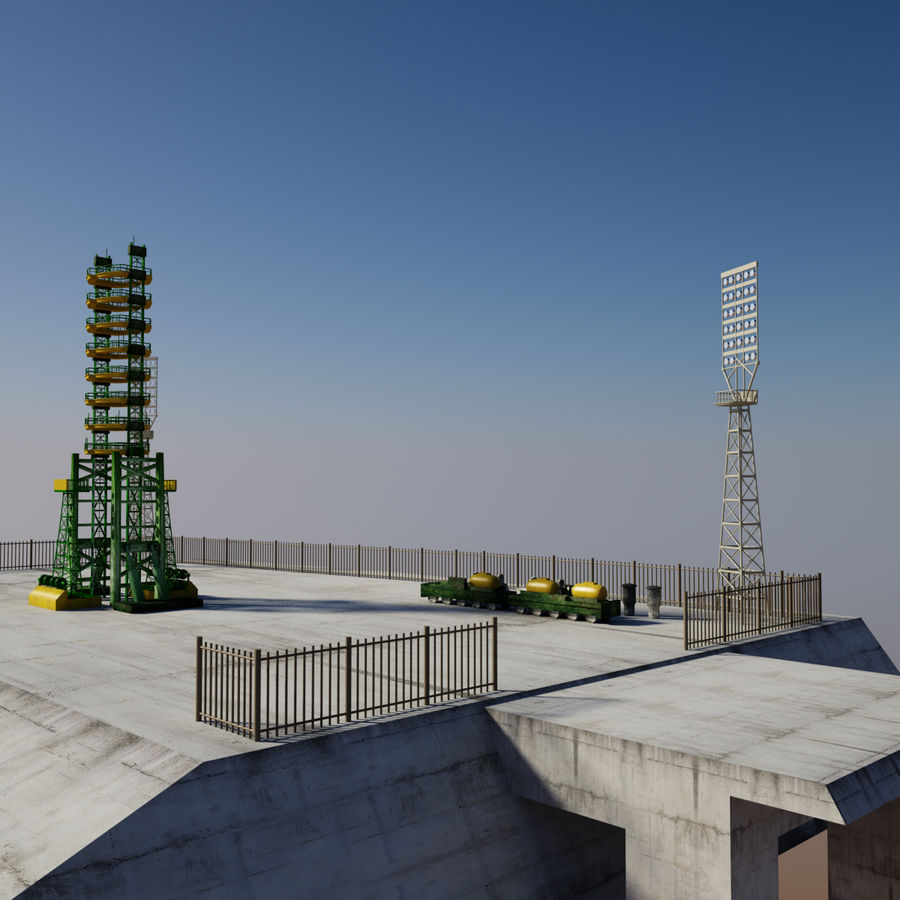 Rocket Launch Site royalty-free 3d model - Preview no. 4