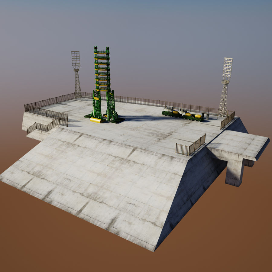 Rocket Launch Site royalty-free 3d model - Preview no. 8