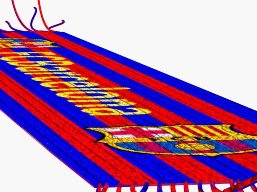 Barcelona FC  scarf royalty-free 3d model - Preview no. 6