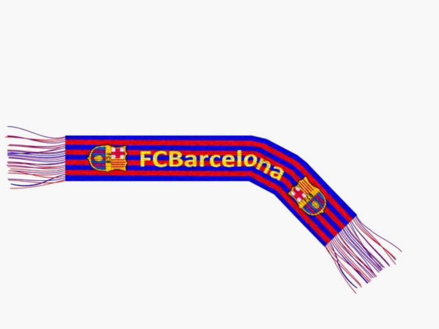 Barcelona FC  scarf royalty-free 3d model - Preview no. 1