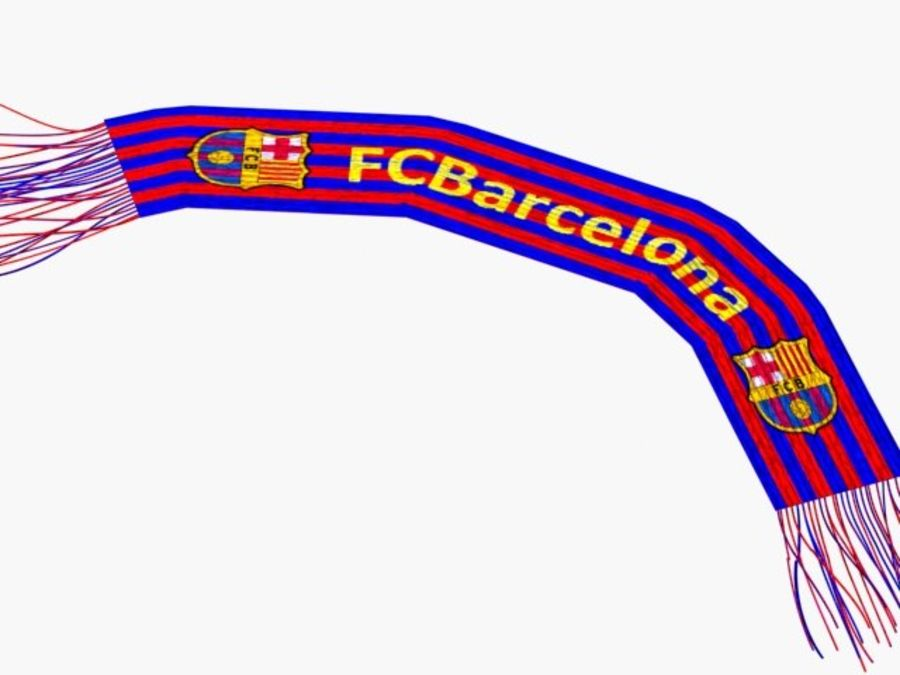 Barcelona FC  scarf royalty-free 3d model - Preview no. 5
