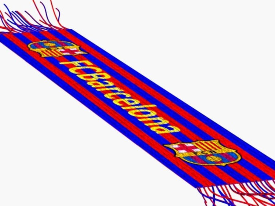 Barcelona FC  scarf royalty-free 3d model - Preview no. 3
