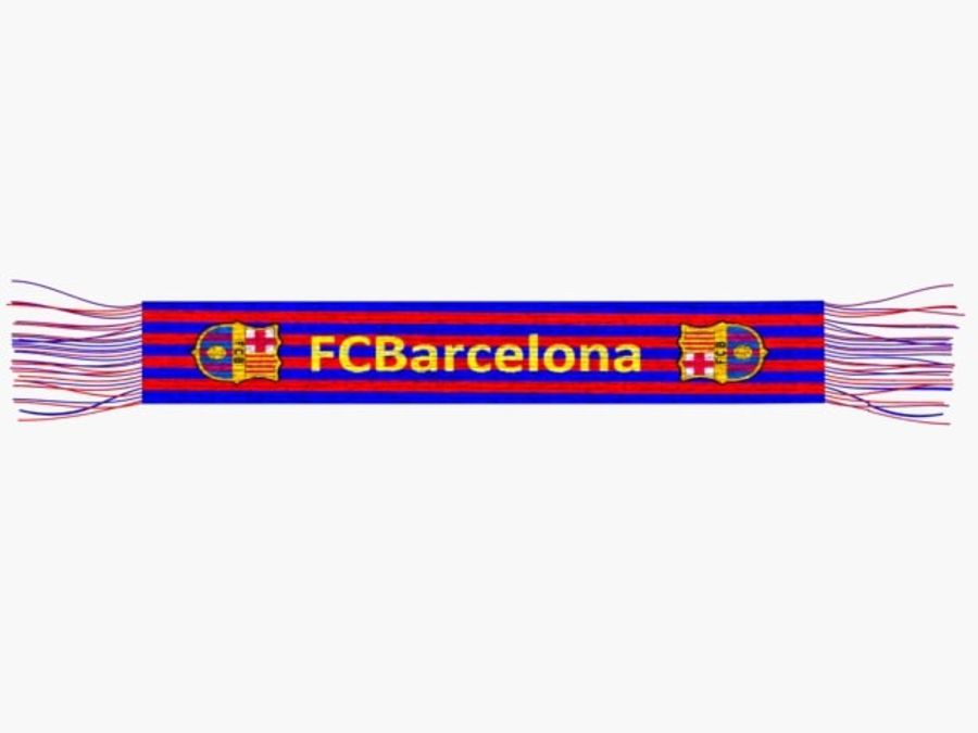 Barcelona FC  scarf royalty-free 3d model - Preview no. 2