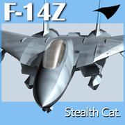 F-14Z- Stealth Cat 3d model