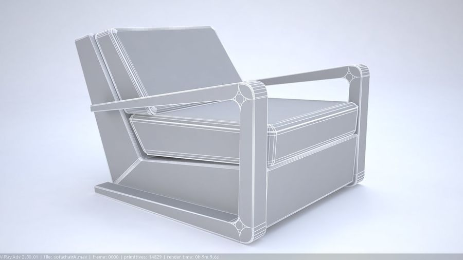 Sofa stoel royalty-free 3d model - Preview no. 2