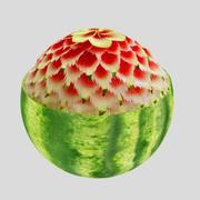 ristad vattenmelon 3d model