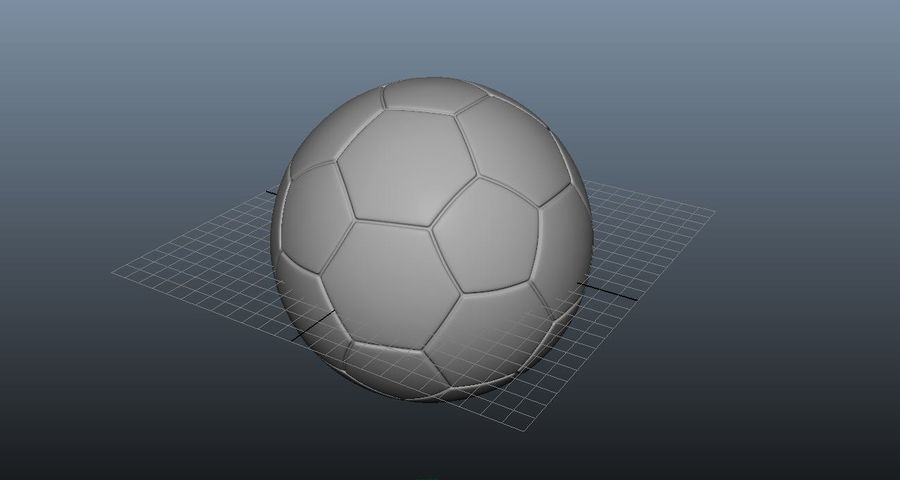 Fotboll royalty-free 3d model - Preview no. 4