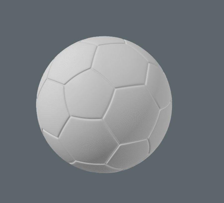 Fotboll royalty-free 3d model - Preview no. 3