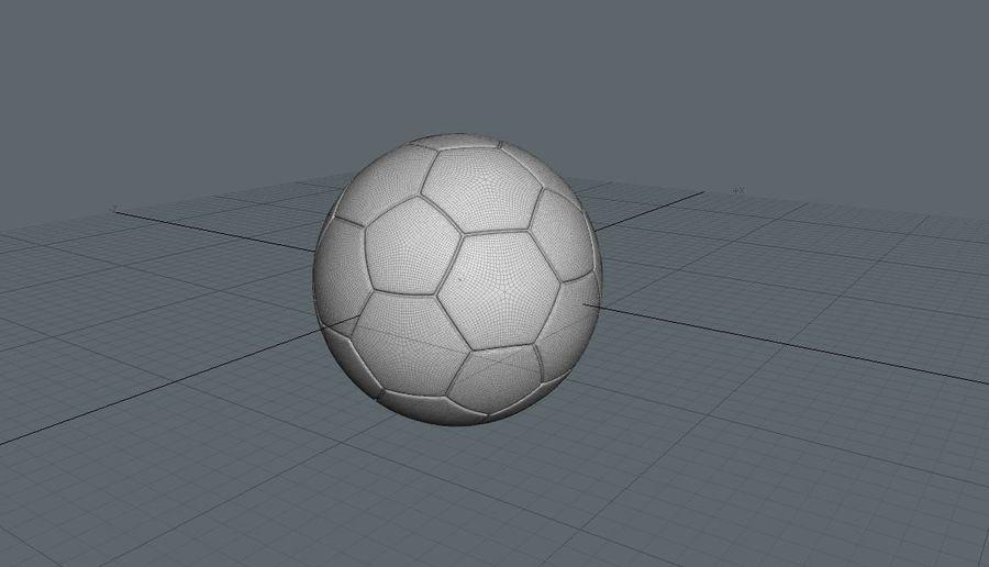 Fotboll royalty-free 3d model - Preview no. 2
