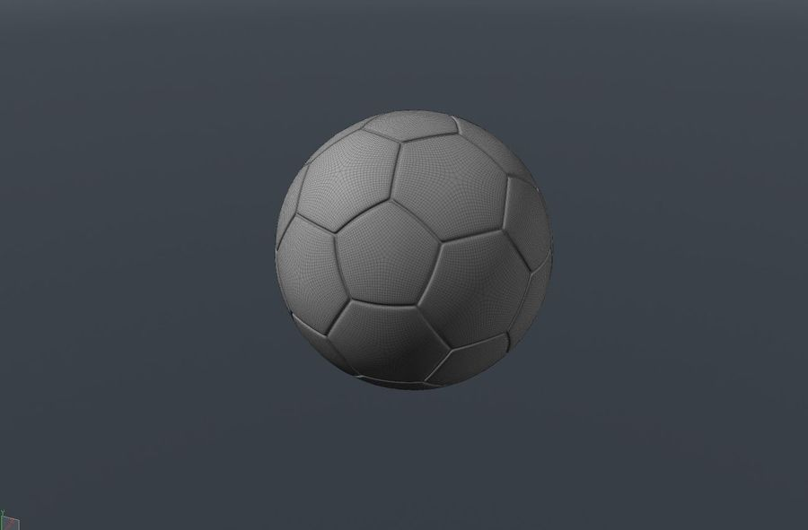Fotboll royalty-free 3d model - Preview no. 1