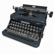 Toon Typewriter Black 3d model