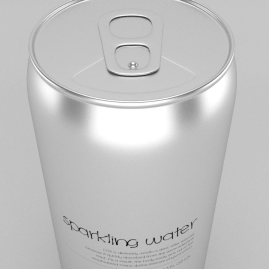 Soda water can royalty-free 3d model - Preview no. 4