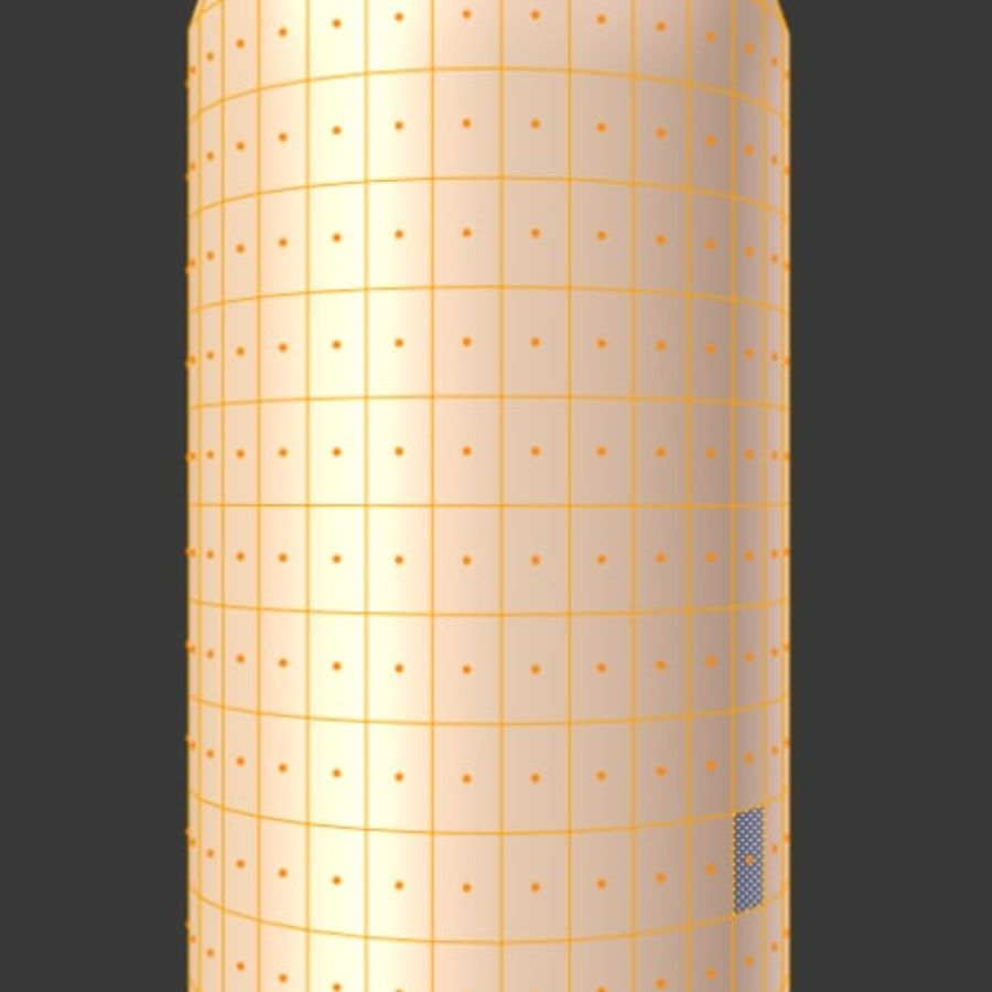 Soda water can royalty-free 3d model - Preview no. 6