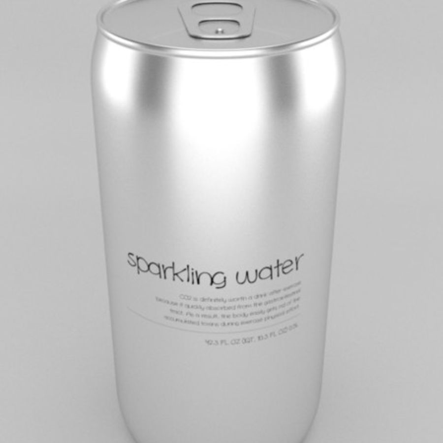 Soda water can royalty-free 3d model - Preview no. 3