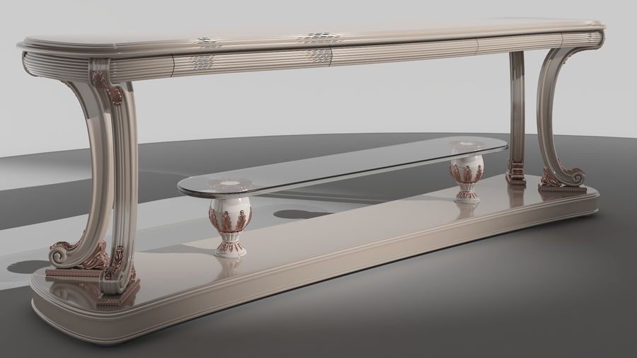 Muebles clásicos royalty-free modelo 3d - Preview no. 5