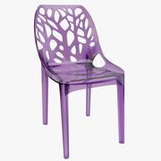 Trärosa plastgenomskinlig stol 3d model