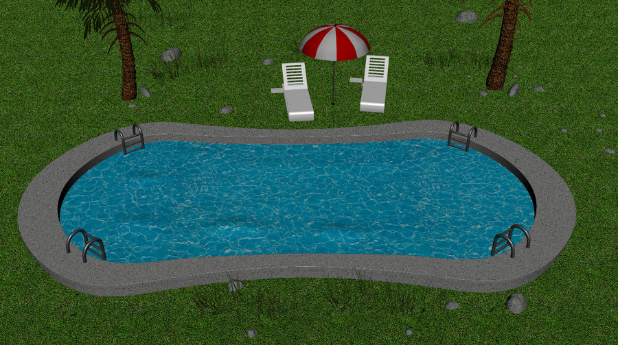 Swimming Pool royalty-free 3d model - Preview no. 2