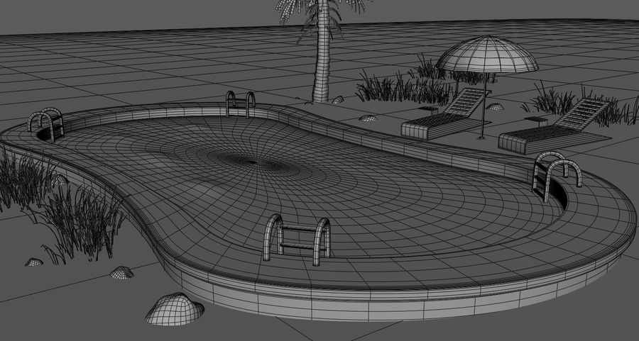 Swimming Pool royalty-free 3d model - Preview no. 8