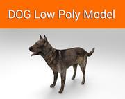 собачья игра готова низкополигональная модель 3d model