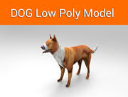 dog game ready low poly model 3d model