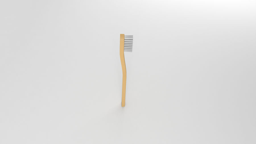 基本的な歯ブラシ royalty-free 3d model - Preview no. 4