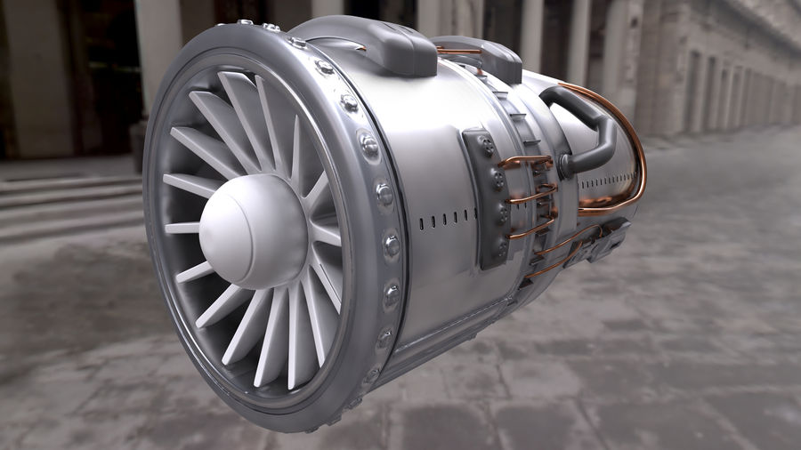 Jet Engine royalty-free 3d model - Preview no. 2