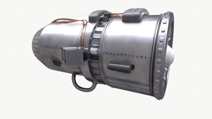 Jet Engine royalty-free 3d model - Preview no. 5