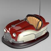 Oldtimer bumper car 3d model