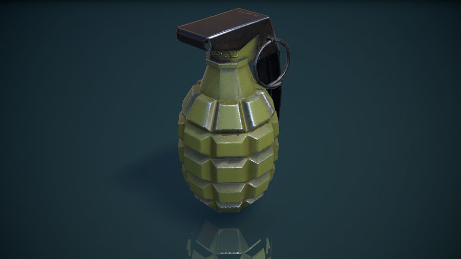 Grenade MK2 royalty-free 3d model - Preview no. 2