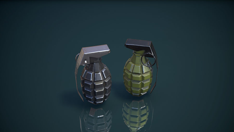 Grenade MK2 royalty-free 3d model - Preview no. 13
