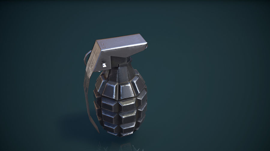 Grenade MK2 royalty-free 3d model - Preview no. 10