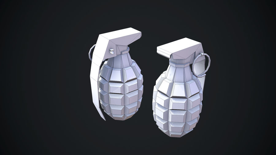 Grenade MK2 royalty-free 3d model - Preview no. 15