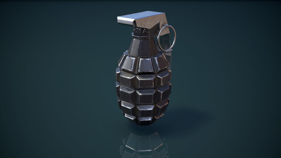 Grenade MK2 royalty-free 3d model - Preview no. 9