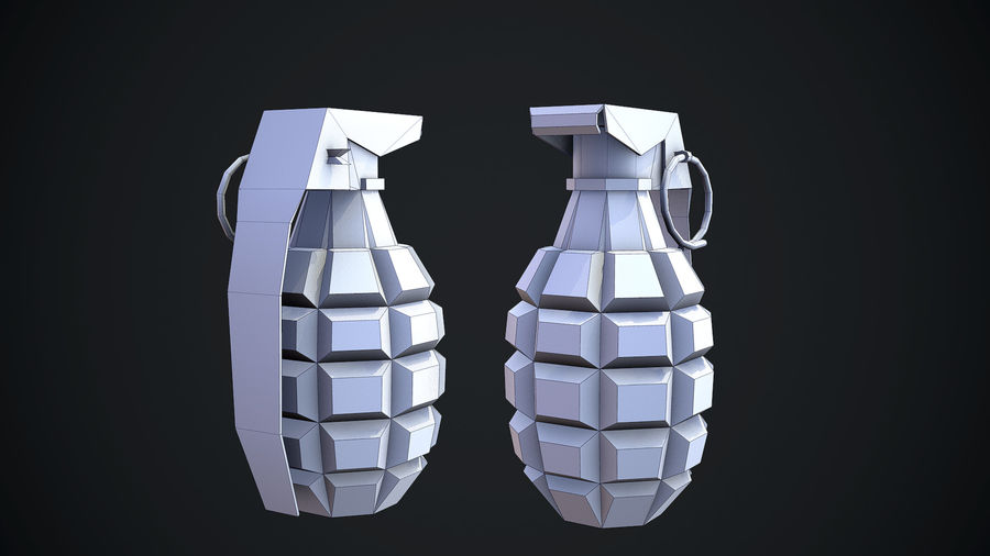 Grenade MK2 royalty-free 3d model - Preview no. 16