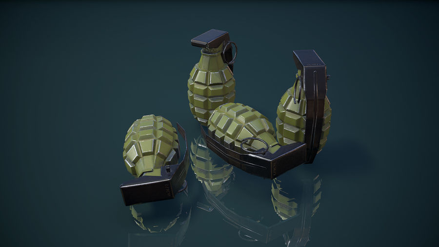 Grenade MK2 royalty-free 3d model - Preview no. 8