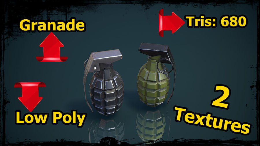 Grenade MK2 royalty-free 3d model - Preview no. 1